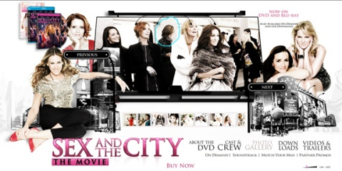 yes, I circled myself.  Screenshot from the Official Sex and the City The Movie Website
