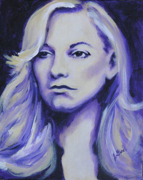 "Jenny created ""Reflective"" with acrylic paints"